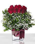 Bilecik çiçekçi çiçek , çiçekçi , çiçekçilik  11 adet gül mika yada cam - anneler günü seçimi -