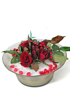 Bilecik çiçekçi çiçek siparişi vermek  EN ÇOK Sevenlere 7 adet kirmizi gül mika yada cam tanzim