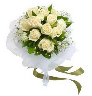 Bilecik çiçekçi online çiçekçi , çiçek siparişi  11 adet benbeyaz güllerden buket