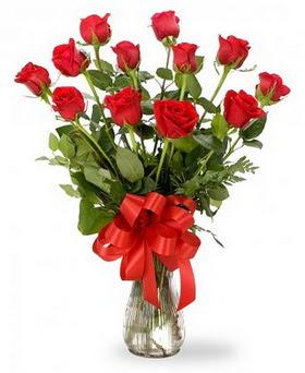 Bilecik çiçekçi çiçek , çiçekçi , çiçekçilik  12 adet kırmızı güllerden vazo tanzimi
