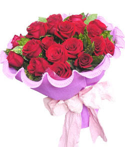 12 adet kırmızı gülden görsel buket  Bilecik çiçekçi çiçekçi mağazası