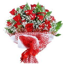 11 kırmızı gülden buket  Bilecik çiçekçi 14 şubat sevgililer günü çiçek