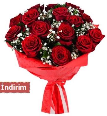 12 Adet kırmızı aşk gülleri  Bilecik çiçekçi çiçek satışı