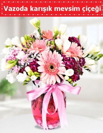 Vazoda karışık mevsim çiçeği  Bilecik çiçekçi çiçek , çiçekçi , çiçekçilik
