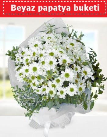 Beyaz Papatya Buketi  Bilecik çiçekçi 14 şubat sevgililer günü çiçek
