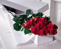 Bilecik çiçekçi çiçek satışı  özel kutuda 12 adet gül