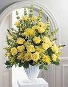 Bilecik çiçekçi çiçek siparişi sitesi  sari güllerden sebboy tanzim çiçek siparisi