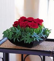 Bilecik çiçekçi çiçek siparişi sitesi  10 adet kare mika yada cam vazoda gül tanzim
