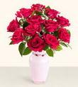Bilecik çiçekçi hediye çiçek yolla  10 kirmizi gül cam yada mika vazo tanzim