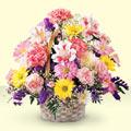 Bilecik çiçekçi uluslararası çiçek gönderme  sepet içerisinde gül ve mevsim