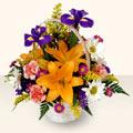 Bilecik çiçekçi 14 şubat sevgililer günü çiçek  sepet içinde karisik çiçekler