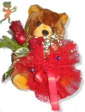 oyuncak ayi ve gül tanzim  Bilecik çiçekçi çiçekçiler