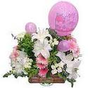 balon ve çiçeklerle tanzim  Bilecik çiçekçi internetten çiçek satışı