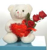 3 adetgül ve oyuncak   Bilecik çiçekçi online çiçekçi , çiçek siparişi