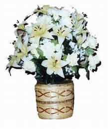 yapay karisik çiçek sepeti   Bilecik çiçekçi çiçek mağazası , çiçekçi adresleri