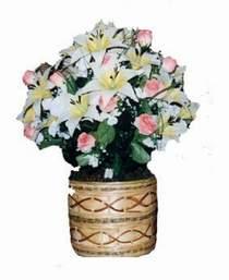 yapay karisik çiçek sepeti   Bilecik çiçekçi çiçek servisi , çiçekçi adresleri