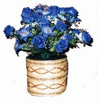 yapay mavi çiçek sepeti  Bilecik çiçekçi cicekciler , cicek siparisi