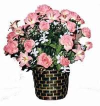 yapay karisik çiçek sepeti  Bilecik çiçekçi çiçek online çiçek siparişi
