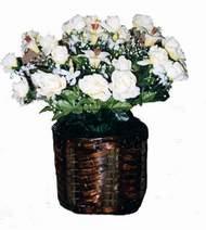yapay karisik çiçek sepeti   Bilecik çiçekçi cicek , cicekci