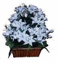 yapay karisik çiçek sepeti   Bilecik çiçekçi online çiçek gönderme sipariş