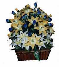 yapay karisik çiçek sepeti   Bilecik çiçekçi çiçek gönderme