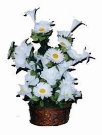 yapay karisik çiçek sepeti  Bilecik çiçekçi çiçek siparişi vermek