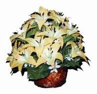 yapay karisik çiçek sepeti   Bilecik çiçekçi çiçek siparişi sitesi