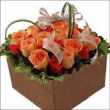 kare sandikta 11 gülllerden   Bilecik çiçekçi çiçekçi mağazası