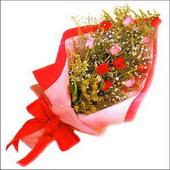 12 adet renkli  gül buketi   Bilecik çiçekçi çiçekçi mağazası