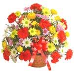 karisik renkli çiçek sepet   Bilecik çiçekçi çiçek gönderme sitemiz güvenlidir