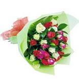 12 adet renkli gül buketi   Bilecik çiçekçi çiçek gönderme sitemiz güvenlidir