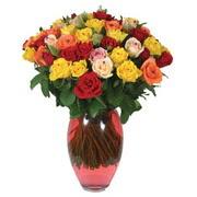 51 adet gül ve kaliteli vazo   Bilecik çiçekçi çiçek gönderme sitemiz güvenlidir