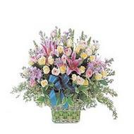 sepette kazablanka ve güller   Bilecik çiçekçi çiçek gönderme