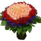 71 adet renkli gül buketi   Bilecik çiçekçi ucuz çiçek gönder