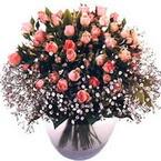 büyük cam fanusta güller   Bilecik çiçekçi çiçek yolla