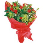 10 adet kirmizi gül buketi  Bilecik çiçekçi çiçek yolla