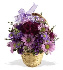 Bilecik çiçekçi uluslararası çiçek gönderme  sepet içerisinde krizantem çiçekleri