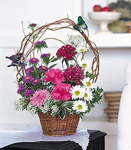 Bilecik çiçekçi cicekciler , cicek siparisi  sepet içerisinde karanfil gerbera ve kir çiçekleri