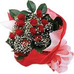 Bilecik çiçekçi internetten çiçek satışı  KIRMIZI AMBALAJ BUKETINDE 12 ADET GÜL