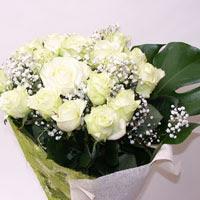 Bilecik çiçekçi hediye çiçek yolla  11 adet sade beyaz gül buketi