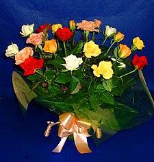 Bilecik çiçekçi hediye çiçek yolla  13 adet karisik renkli güller