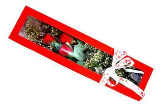 Bilecik çiçekçi hediye çiçek yolla  Kutuda 3 adet gül