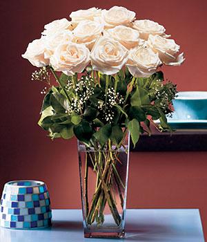 Bilecik çiçekçi hediye sevgilime hediye çiçek  Cam yada mika vazo içerisinde 12 gül