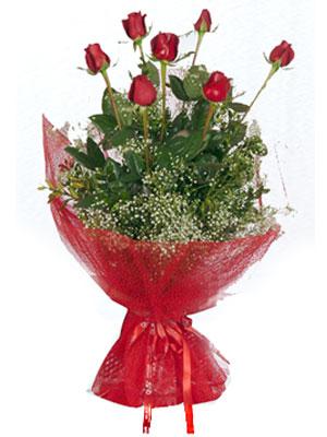 Bilecik çiçekçi çiçek servisi , çiçekçi adresleri  7 adet gülden buket görsel sik sadelik