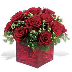 Bilecik çiçekçi çiçek yolla  9 adet kirmizi gül cam yada mika vazoda