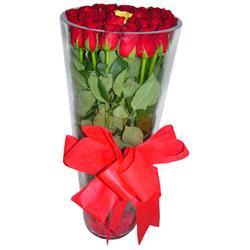 Bilecik çiçekçi çiçek online çiçek siparişi  12 adet kirmizi gül cam yada mika vazo tanzim