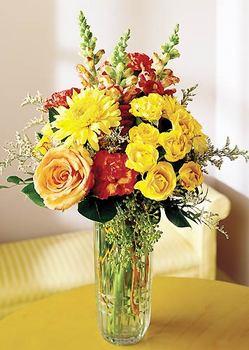 Bilecik çiçekçi 14 şubat sevgililer günü çiçek  mika yada cam içerisinde karisik mevsim çiçekleri