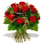 9 adet kirmizi gül ve kir çiçekleri  Bilecik çiçekçi internetten çiçek satışı
