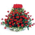 Bilecik çiçekçi kaliteli taze ve ucuz çiçekler  41 adet kirmizi gülden sepet tanzimi