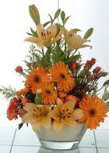 Bilecik çiçekçi çiçek servisi , çiçekçi adresleri  cam yada mika vazo içinde karisik mevsim çiçekleri